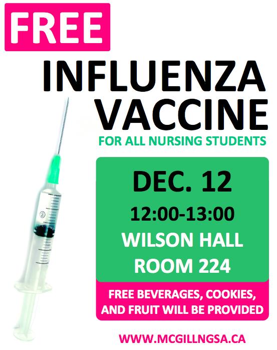 Free Flu Shot Poster