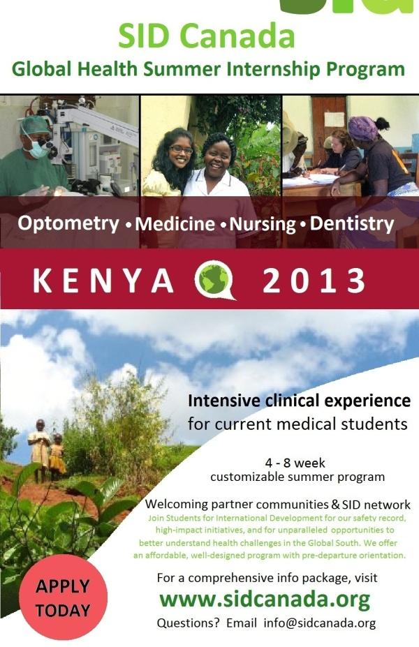 Global Health Internship Program Poster
