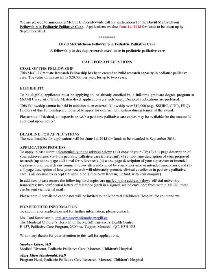 McCutcheon Fellowship Poster